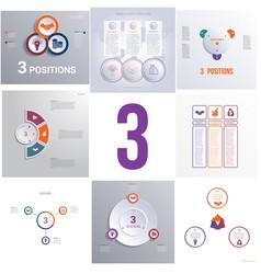 set 8 universal templates elements infographics vector image