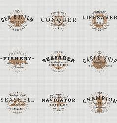 Set hipster vintage labels logotypes badges vector
