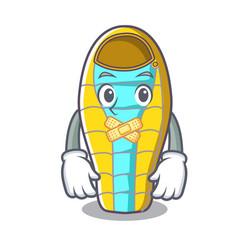 silent sleeping bad mascot cartoon vector image