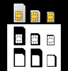 Sim card standard micro nano adapter vector