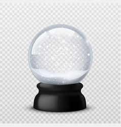 snow ball christmas and new year realistic vector image