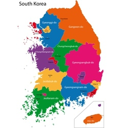 South Korea map vector