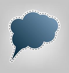speach bubble sign blue icon vector image