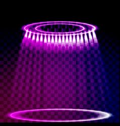 spotlight light effect vector image