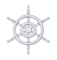 Steering wheel gray drawing vector