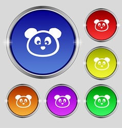 Teddy Bear icon sign Round symbol on bright vector