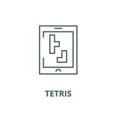 tetris line icon linear concept outline vector image