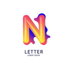 The letter n latin alphabet display vector