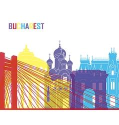 Bucharest skyline pop vector image vector image