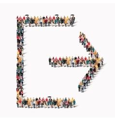 people shape entry exit door vector image vector image