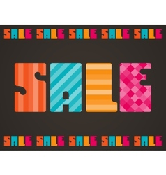 Sale poster background in flat design style vector image vector image