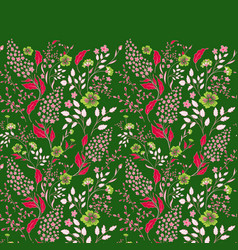 seamless border of flowering branches cute little vector image vector image