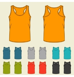 Set of templates colored singlets for men vector image vector image