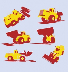 utility trucks vector image vector image