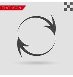 Arrow icon Flat Style with red vector image