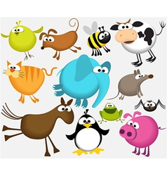 Funny cartoon animals vector image