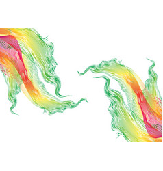 Great rainbow waves colorful gradient line with vector