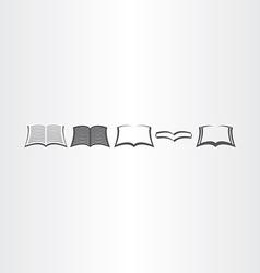 open book icons set design elements vector image