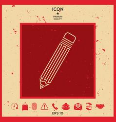 pencil - line icon vector image