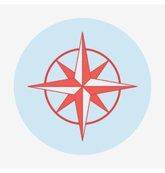 Pirate or sea icon wind rose Flat design vector image