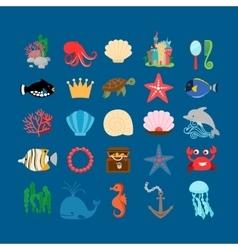Underwater life and ocean animals vector image vector image