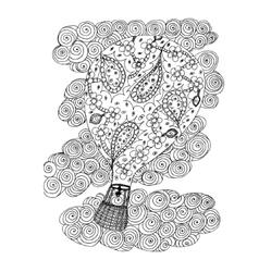 Air ball Hand drawn vector image