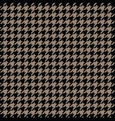 gold houndstooth pattern classical vector image