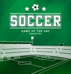 Soccer Football Poster vector image