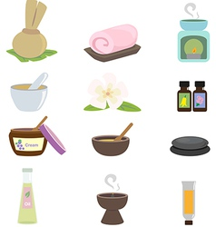 Spa Supplies vector image vector image