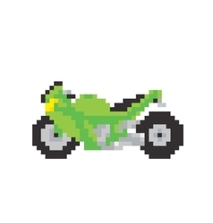 Sport motorbike in pixel art style isolated vector image