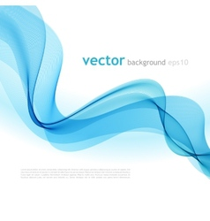 Abstract colorful background blue smoke wave vector