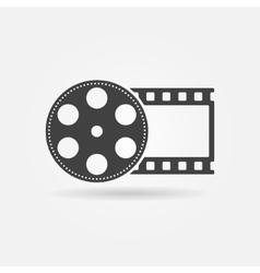 Black film roll logo or icon vector image