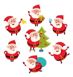 Cute and funny Santa Claus with Christmas vector image vector image