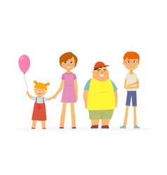 happy children - cartoon people characters vector image