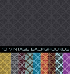seamless damask patterns vector image vector image