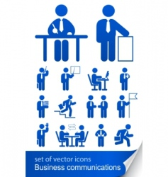 set informational business icon vector image vector image