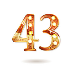 43 years anniversary celebration design vector image