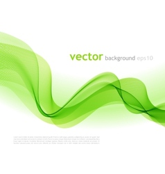 Abstract colorful background green smoke wave vector