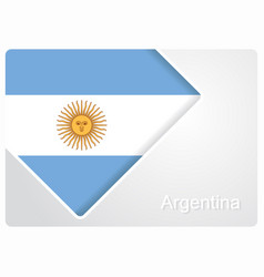 Argentinean flag design background vector