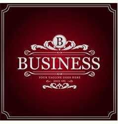 b business logo new creative silver floral design vector image