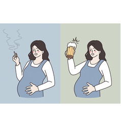 bad habits during pregnancy concept vector image