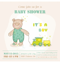 bashower or arrival card - with babear vector image