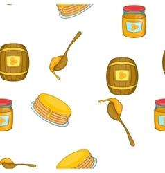 Bee honey pattern cartoon style vector