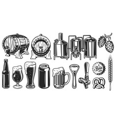 Beer object set vector