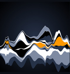 big data visualization streamgraph futuristic vector image