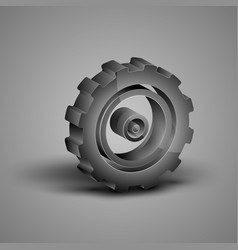 Big gray gear vector