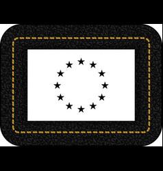 Black and white version european union flag icon vector