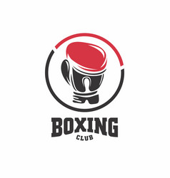 boxing club symbol vector image