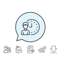 Business project deadline line icon vector