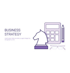 business strategy marketing corporate planning web vector image